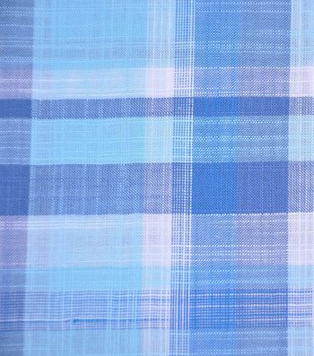 Cotton Shirting Fabric 42''-Blue & Aqua Plaid
