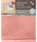 DCWV 12\u0022x12\u0022 set of 5 Premium Papers-Baby Pink Multipack Assortment