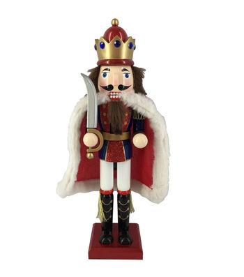 Maker's Holiday Christmas 15'' King Nutcracker