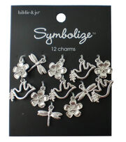 hildie & jo Symbolize 12 Pack Nature Silver Charms, , hi-res
