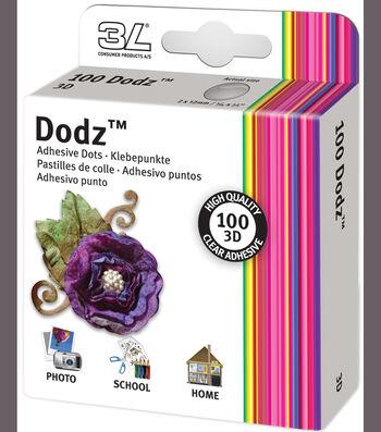 "Dodz Adhesive Dot Rolls-3d, 1/16""X1/2"", 100/Pkg"
