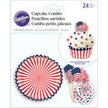 Combo Pk Red White Blue 24ct