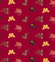 """University of Minnesota Gophers Cotton Fabric 44""""-Red All Over, , hi-res"""