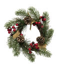 Blooming Holiday 7\u0027\u0027 Berry & Pinecone Burlap Mini Wreath