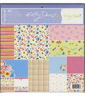 GCD Studios Kathy Davis 48 pk 12\u0027\u0027x12\u0027\u0027 Printed Cardstock-Fantasy Garden