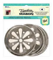 Transform Mason Ball Lid Inserts 4/Pkg-Daisy Wide Mouth, , hi-res