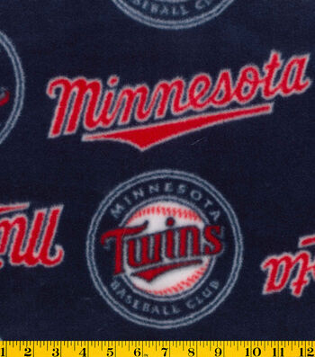 "Minnesota Twins Fleece Fabric 58""-Tossed"