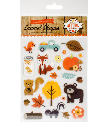A Perfect Autumn Adhesive Enamel Shapes