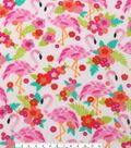 Anti-Pill Fleece Fabric 59\u0022-Flamingos And Flowers