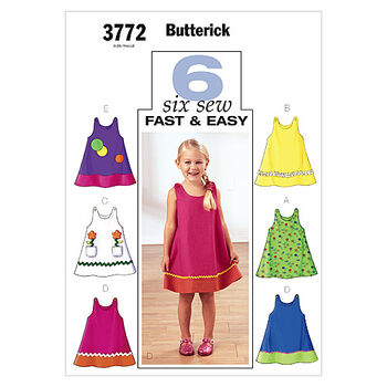Butterick Children's Dress-B3772