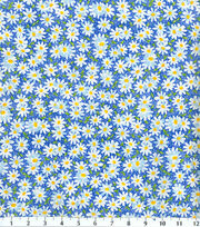 Keepsake Calico™ Cotton Fabric 44''-Blue Packed Daisy, , hi-res