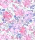 Silky Prints - Chiffon Blurry Floral Dew Drop Purple