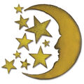 Sizzix Bigz Die By Tim Holtz 5.5\u0022X6\u0022-Crescent Moon & Stars