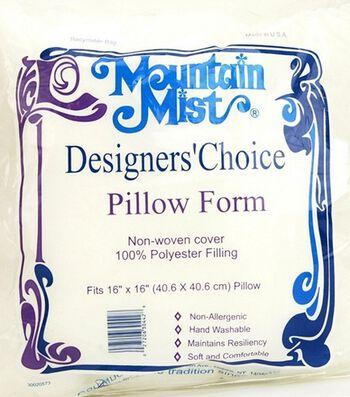"Mountain Mist Designer's Choice Pillow Forms 16""X16"""