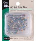 Dritz 1.06\u0022 Steel Colorball Pins 240pcs Size 17