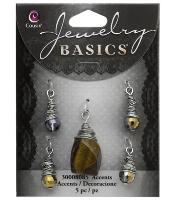 Cousin® Jewelry Basics 5 Pack Wire Wrapped Tiger Eye Stone