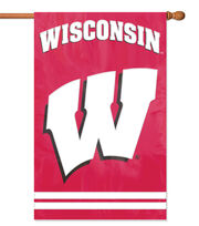 University of Wisconsin Badgers Applique Banner Flag, , hi-res