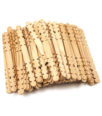 "Craft Skill Sticks Natural 4.5"" 80/Pkg"