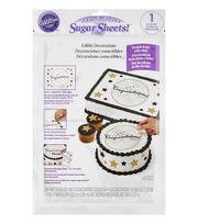 Wilton® Peel & Place Sugar Sheets-Black & Gold Congratulations, , hi-res