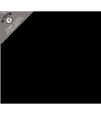 "Colorbok Fabric Post Bound Album 12""X12""-Black"
