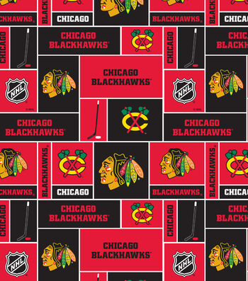 Chicago Blackhawks Fleece Fabric 60''-Block