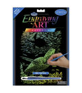Royal Brush 8\u0027\u0027x10\u0027\u0027 Rainbow Engraving Art Kit-Sea Turtle
