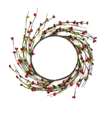 Blooming Holiday Berry Mini Wreath-Red Green
