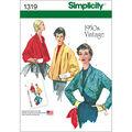 Simplicity Pattern 1319H5 6-8-10-12--Misses Jackets Coats