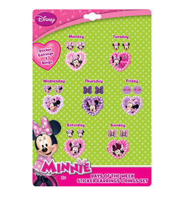 Disney® Minnie Mouse Days Of The Week Ring Set