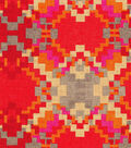 Waverly Upholstery Fabric-Cabin Fever/Chili