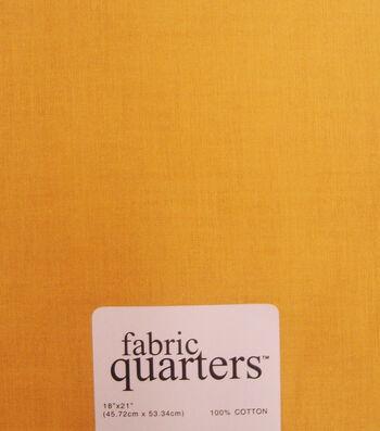 Fabric-Quarters Cotton Fabric-Solids Gold