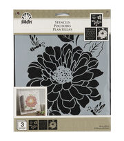 "FolkArt® 8.5""x9.5"" Craft Stencil Value Pack 3pk-Garden, , hi-res"