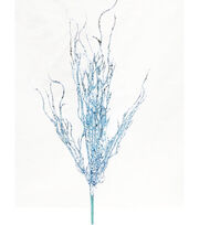 Blooming Holiday Christmas 23'' Branch Spray-Light Blue, , hi-res