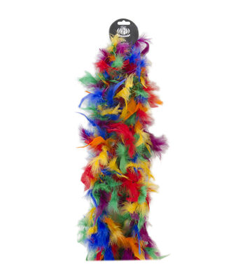 Chandelle Feather Boa-Vibrant Multicolor