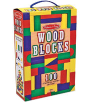 Melissa & Doug 100 Wood Blocks Set, , hi-res