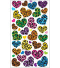 EK Success Sparkler Classic Stickers-Animal Print Hearts