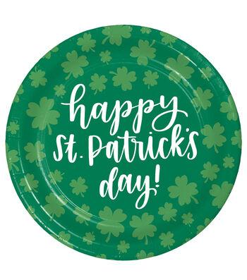 St. Patrick's Day 8 pk Dinner Plates-Luck of The Irish