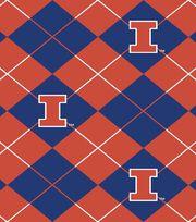 "University of Illinois Fighting Illini Fleece Fabric 58""-Argyle, , hi-res"