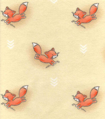 "Nursery Flannel Fabric 42""-Woodland Foxes"