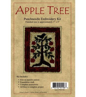 Rachel's of Greenfield Punch Needle Kit Apple Tree