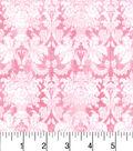 Buttercream Cosette Cotton Fabric 43\u0022-Damask Tonal Pink