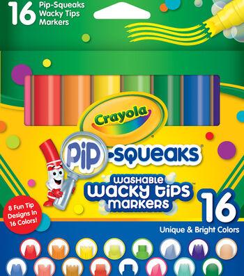 Crayola Pip-Squeaks Washable Wacky Tip Markers-16PK
