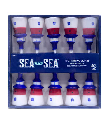 Sea to Sea 10ct Lighthouse String Lights