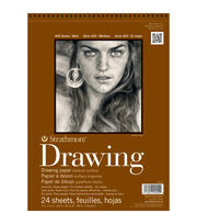 "Strathmore Medium Drawing Paper Pad 11""X14""-80lb 24 Sheets, , hi-res"