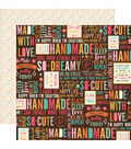I\u0027d Rather Be Crafting 25 pk Double-Sided Cardstock-Happy Crafter
