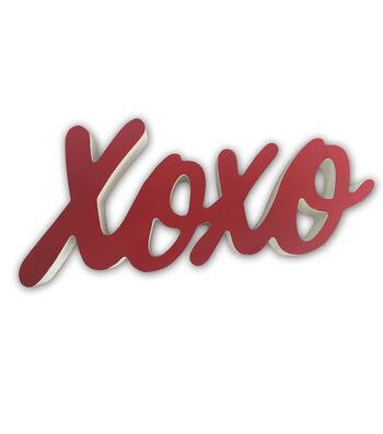Valentine's Day Script XOXO Table Decor
