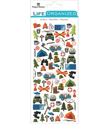 "Paper House Life Organized Micro Stickers 7""X3""-Outdoors"
