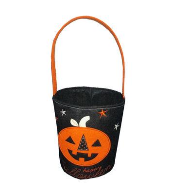 Maker's Halloween Fabric Treat Bag-Pumpkin