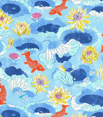 "Waverly Sun N Shade Outdoor Fabric 54""-Lotus Lake Cobal"