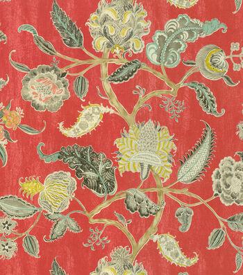 "Waverly Print Fabric 54""-Asian Myth/Radish"